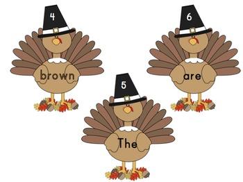 Thanksgiving Sentence Write the Room