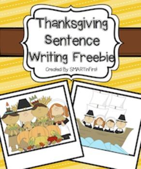 Thanksgiving Sentence Writing Freebie