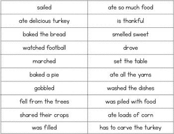 Thanksgiving Sentences