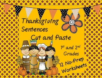 Thanksgiving Sentences Cut and Paste