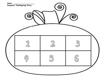 Thanksgiving Sequence Activity