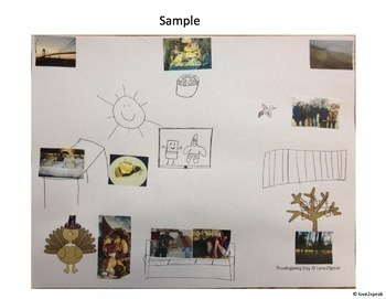 Thanksgiving Sequencing, Following Directions & Comp Questions w/ Real Pics