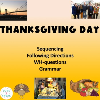 Thanksgiving Sequencing, Following Directions & Comp Quest