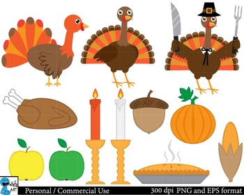 Thanksgiving Set Clipart - Digital Clip Art Graphics 28 images cod64
