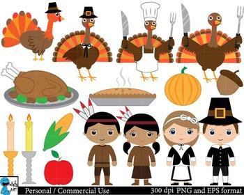 Thanksgiving Set Clipart - Digital Clip Art Graphics 28 im
