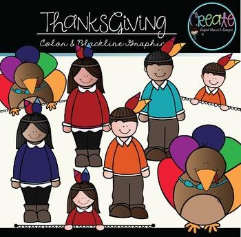 Thanksgiving Set - Digital Clipart