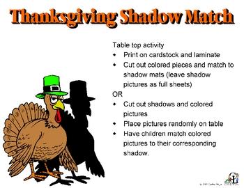 Thanksgiving Shadow Match