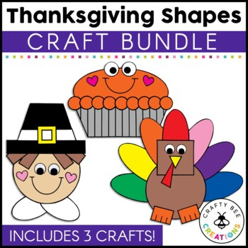 Thanksgiving Shapes Cut and Paste Mini Set