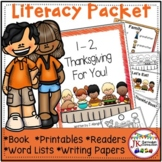 Thanksgiving Packet - 1-2, Thanksgiving For You! Poem & Activities!