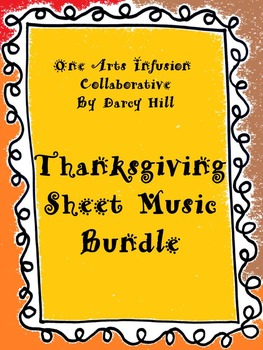 Thanksgiving Sheet Music Bundle: 4 Simple Songs