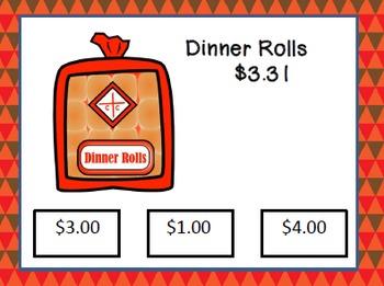 """Thanksgiving Shopping - """"Next Dollar"""" Task Cards"""