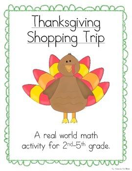 Thanksgiving Shopping Trip (A Math Activity)