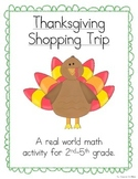 Thanksgiving Shopping Trip (A Math Activity)