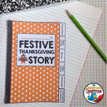 Thanksgiving Short Story Writing INTERACTIVE NOTEBOOK Flip Book