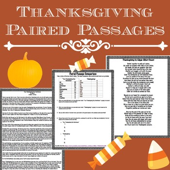 Thanksgiving: Short Story vs. Poem Paired Passages