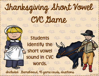 Thanksgiving Short Vowel CVC Game