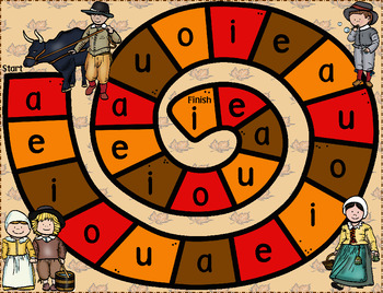 Thanksgiving Short Vowel CVC Game