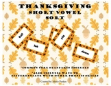 Thanksgiving Short Vowel Sort