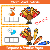 Thanksgiving Short Vowel Words
