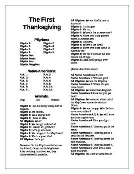 Thanksgiving Show Script