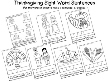 Thanksgiving Sight Word Activities