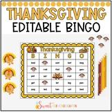 Editable Thanksgiving Sight Word Bingo