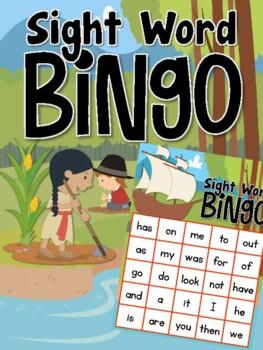 Thanksgiving Sight Word Bingo