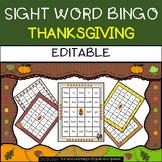 Thanksgiving: Sight Word Bingo - Editable