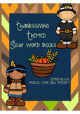 Thanksgiving Sight Word Books