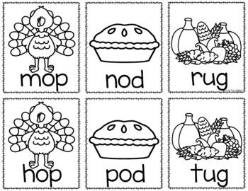 Thanksgiving Sight Word & CVC Word Games (Editable)