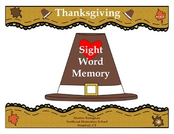 Thanksgiving Sight Word Memory