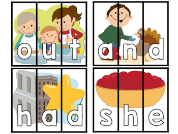 Thanksgiving Sight Word Puzzles