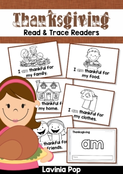 Thanksgiving Sight Word Read & Trace Readers