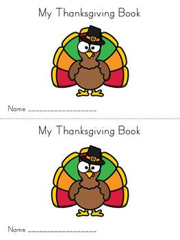 Thanksgiving Sight Word Reader Book Emergent Reader