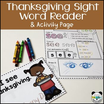 Thanksgiving Sight Word Reader with Differentiated Activity Pages