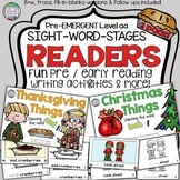 Thanksgiving and Christmas PreEmergent Readers and Activities
