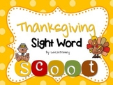Thanksgiving Sight Word Scoot