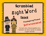 Thanksgiving Sight Word Scoot--Scrambled Words--1st and 2nd Grades