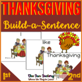 Thanksgiving Sight Word Scrambled Sentences Grades 1 and 2