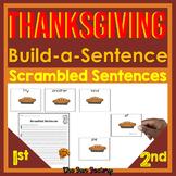 Thanksgiving Sight Word Scrambled Sentences or Building Sentences