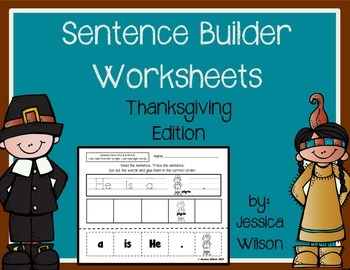Thanksgiving Sight Word Sentence Builders