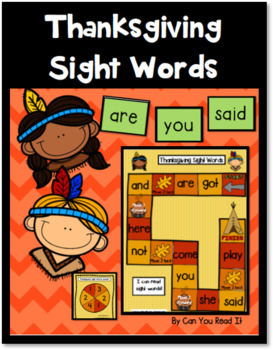 Thanksgiving Sight Words