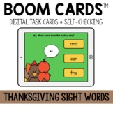 Thanksgiving Sight Words BOOM CARDS™