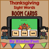 Thanksgiving Sight Words Boom Cards