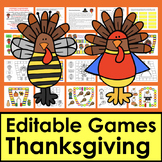 Thanksgiving Sight Word Game Boards - EDITABLE! - Set 1 - Auto-Fill