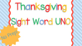 Thanksgiving Sight Words UNO Game