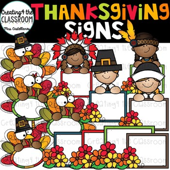Thanksgiving Signs Clip Art  {Thanksgiving Clip Art}