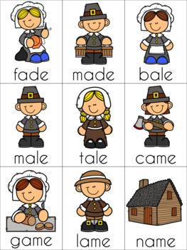Thanksgiving Silent E Cards