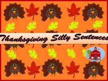 Thanksgiving Silly Sentences