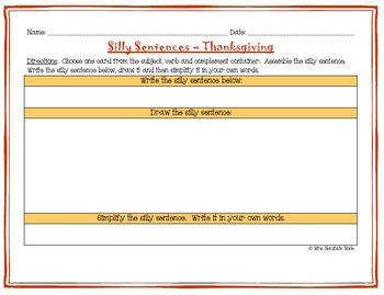 Word Work for Fluent Readers - Thanksgiving